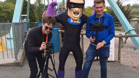 Exeter College Media Students film mascots
