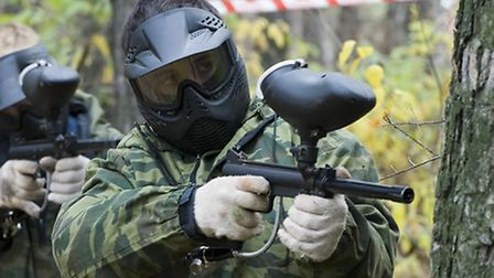 Paintballing at GoBallistic in Gloucester