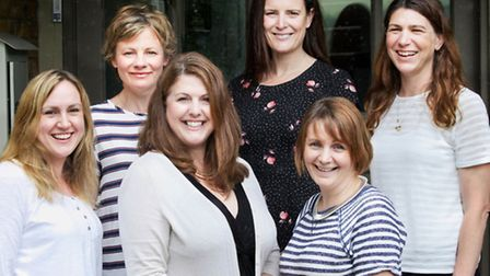 The Bespoke Verse team, with Joanna Miller front and centre