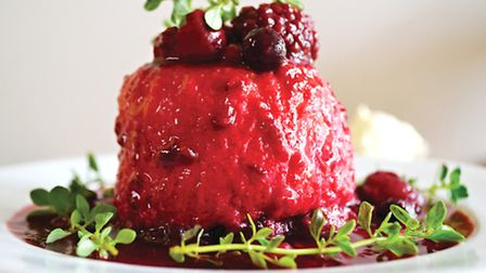 Thyme berry pudding
