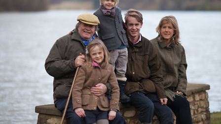 His Grace the Duke of Marlborough with family