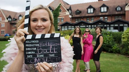 Lights, camera, action – Antonia Sandford, Marketing Intern for Heart of England Mencap (front) with