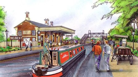 Artist's impression of Station with Canal