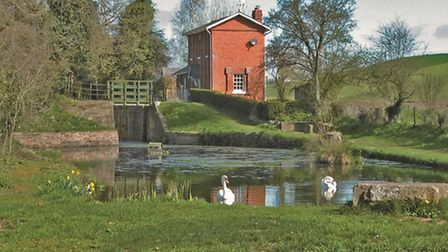 Oxenhall Lock and Cottage, restored in 1990s