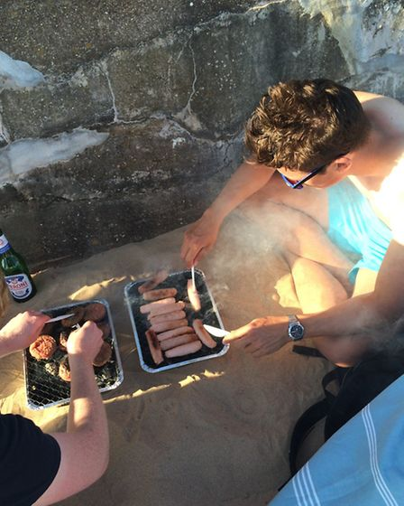 A BBQ on the beach in Exmouth makes for the perfect evening