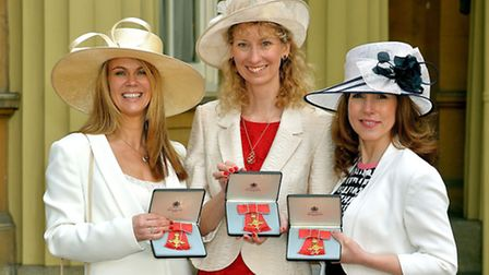 Cathy and fellow Netmums founders Siobhan Freegard and Sally Russell with their OBEs