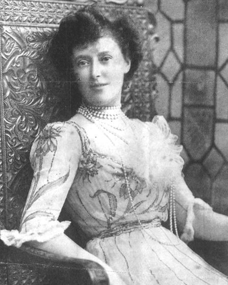 Mrs Greville was photographed wearing the dress in 1900 by James Lafayette at his London Studio. The