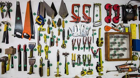 Tools are tagged and closely monitored at The Clink prison garden in Send