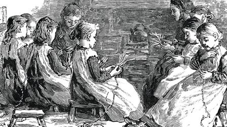 Depiction of a plaiting school. Image courtesy of Luton Culture
