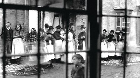 Photo taken by Frank Grace through a window of his house in Akeman Street Tring in the late 1800s. I