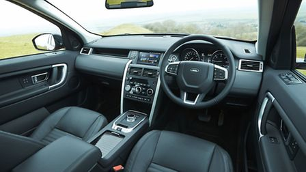 The interior is clean and efficient