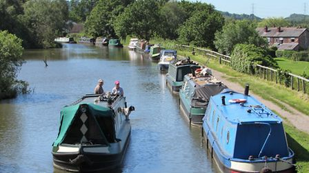 A view from the bridge over the Macclesfield Canal.