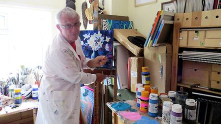 Terry at work in his home studio