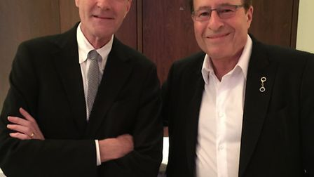 Peter James (right) with Lee Child