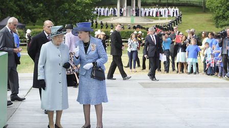 With HM The Queen at the recent Magna Carta celebrations at Runnymede (Photo: Professional Images /