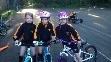Caoimhe Durkin, Chloe Lowndes and Charlotte Hunt