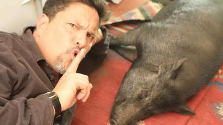 Dom Joly lets Wilbur get some beauty sleep