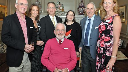 Neuro Therapy Centre Trustee's centre John Brierley, Michael Martin, Katie Roebuck, Dr Ted Rose, Cla