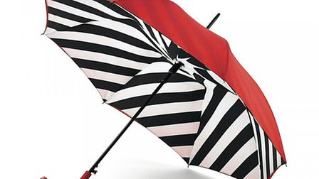 Red and striped umbrella £40, Lulu Guinness