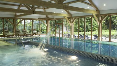 The luxurious pool at Luton Hoo