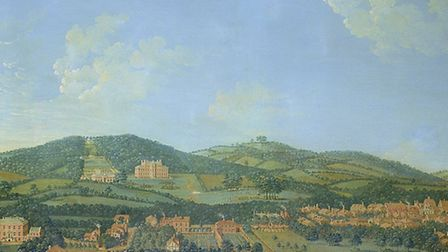 Detail of A View of Deepdene by James Canter (Courtesy of Marylebone Cricket Club)