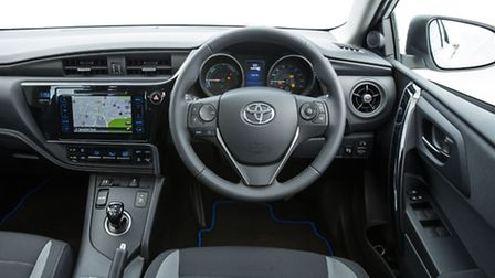 The curvy new fascia, with big, user-friendly dials and a colour touch-screen