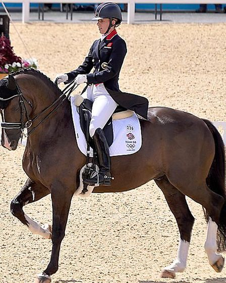 Charlotte Dujardin and Valegro on their way to winning gold at the London 2012 Olympics