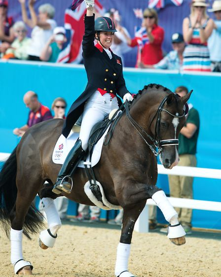Charlotte and Valegro at the London Olympics 2012