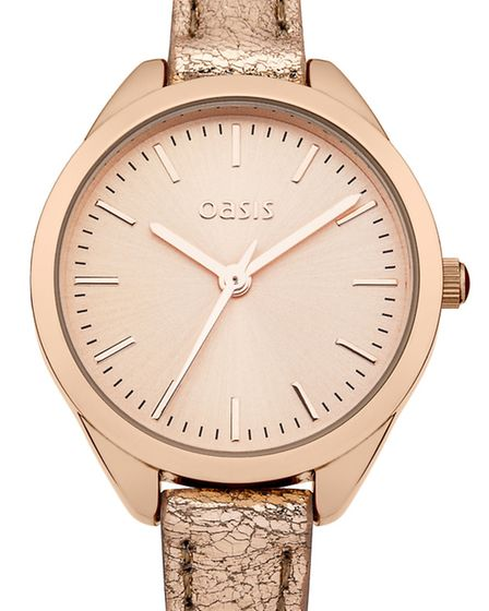 Rose gold watch 25, Oasis