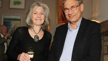 Jill, Duchess of Hamilton, and Orhan Pamuk