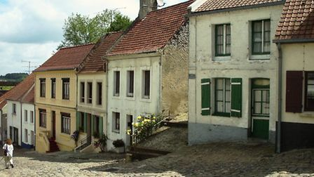 The cobbled steets of medieval Montreuil