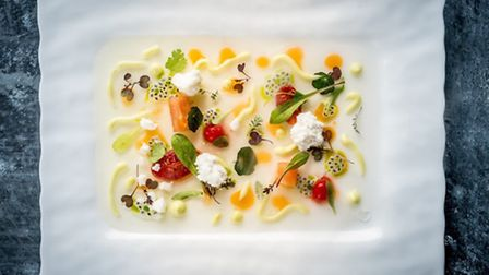 Michael Wignall describes his food as complex modern British contemporary cuisine