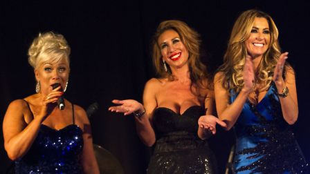 Denise Welch, Ampika Pickston and Dawn Ward auctioning a Cheshire Housewives prize