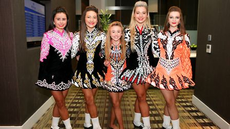 Irish Dancers: Nina Rawlings, Shannon Flannagan, Jaicie Withers, Annabell Cawley and Ellie Rose Wal