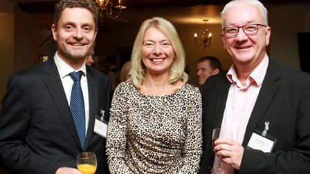Carl Reeve and Liz Richards of Data Plastics with Paul Lowe of Darby's LLP