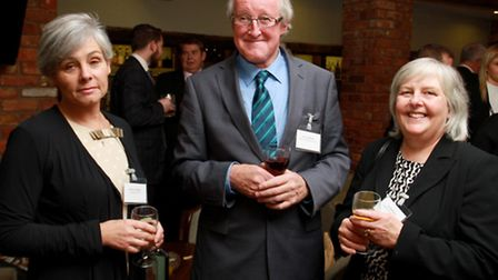 Nicky Godding of Business & Professional with Peter and Lin Badham of Badham's Pharmacy