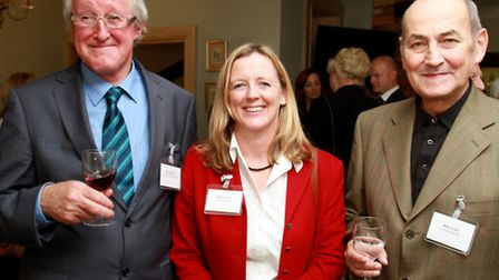 Peter Badham of Badham's Pharmacy, Ruth Dooley of Hazlewoods LLP and Mike Lowe of Cotswold Life