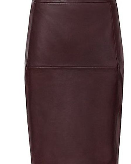Leather panel pencil skirt £195, Reiss
