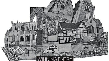 Winner of #CLAIR16 - 'Abbey Gardens' (Graphic and print) by Kitty Kovacevic