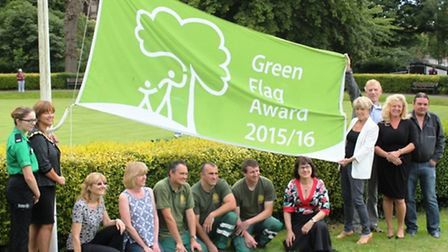 The Friends of Congleton Park with their Green Flag status