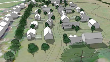 Planning application to build 46 new homes at the former Newark Farm in Hempsted, Gloucester