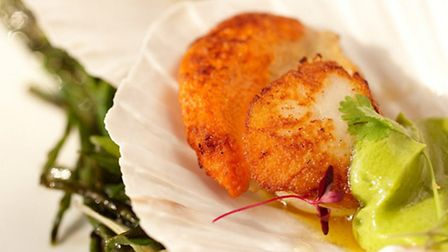 Some of the dishes which appeared on the first ever menu such as Scallops, Mussels and Thai Crispy d