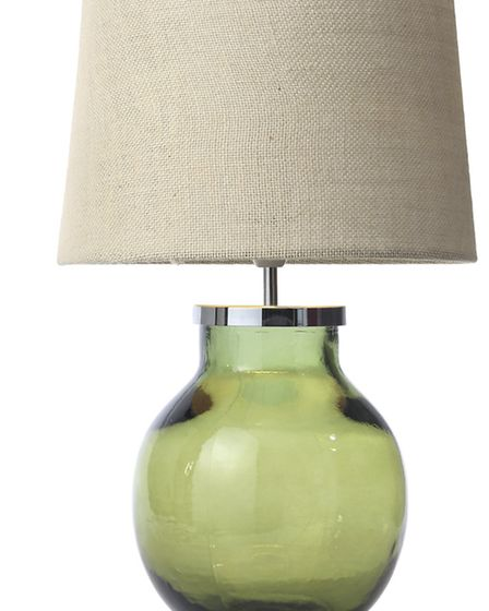 Aldeburgh recycled glass table lamp 35, Tesco