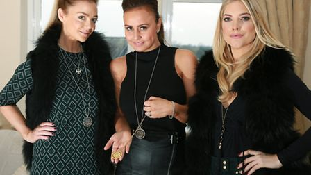 Pippa Jervis and sister-in-law Emma Jervis (of Louise McLeod Jewellery) and Karla Zapolski (of The F
