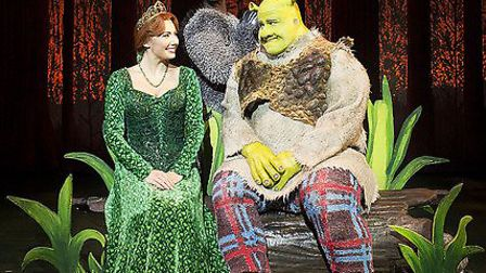Fiona and Shrek share a moment...with Donkey