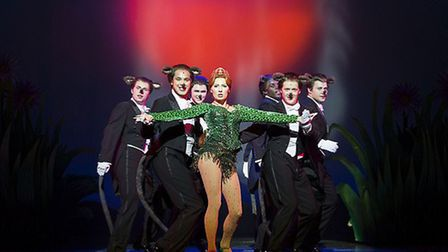 Fiona dances with rats, in Shrek The Musical at the Lowry