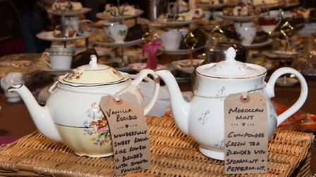 Tea pots ready to serve