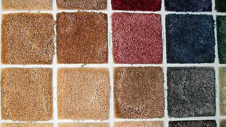 Swatches of carpet