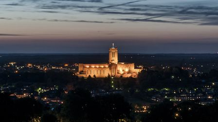 Maggie enjoys gazing at the skies over Guildford from her garden (Photo (c) Guildford Cathedral - Al