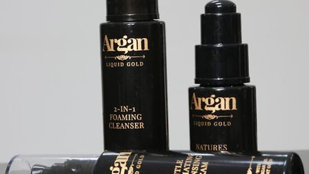 May Hamid and her Fairtrade Argan products